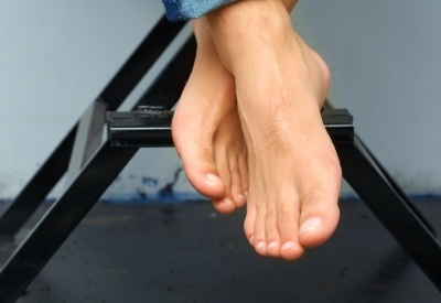 Male pedicure